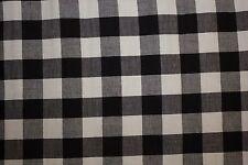 Gingham Poplin Print #7 Cotton Lycra Spandex Stretch Woven Apparel Fabric BTY