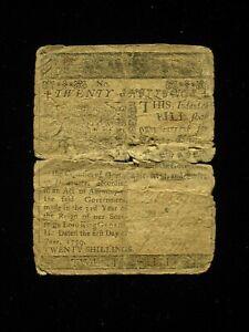 US DE Colonial/State Currency - 20 shillings - June 1, 1759 ** DE-68 ** (CC-257)
