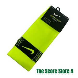 Nike Matchfit Knee High Soccer Socks Men 8-12 Neon Yellow Dri Fit New Women's 10