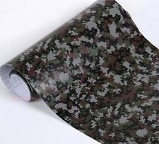 Digital Black Camouflage Camo Satin Car Vinyl Wrap Sticker Decal PVC Stretch US