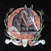 HORSE WESTERN LADIES WOMENS WESTERN HORSE  WINDCHEATER SWEATSHIRT SMALL BLACK