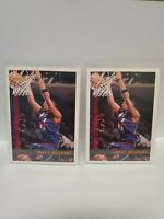 (2) 1997-98 Topps Tracy McGrady Rookie Card RC T-MAC!!! NBA Raptors #125 lot