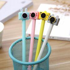 4pcs Cute Camera Gel Pen Cute Black Ink Signature Pens Kawaii Stationery New