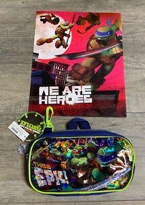 Ninja Turtles Red Pocket Folder and Pencil Bag