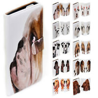 For Samsung Galaxy S6 S7 edge+ S5 - Dog Portrait Print Wallet Phone Case Cover