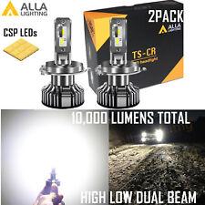 Alla Lighting 9003 Headlight High Low Dual Beam Light Bulb White Fit Dust Cover