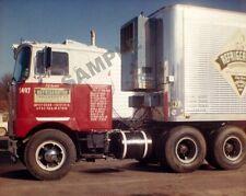 "Refrigerated Transport 1960's Mack COE Semi Truck Rig 8""x 10"" Photo 4"