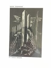 Grace Rogers Wood Engraving Plate From Book Modern Art