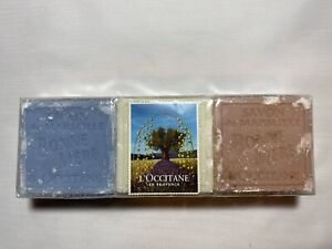 L'Occitane Bonne Mere Savon Soap 3 Bars NOS Rose Milk Lavender 4.4oz / 125g each