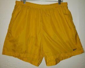 Nike Nylon Athletic Shorts Adult XXL Yellow ( Read Description )