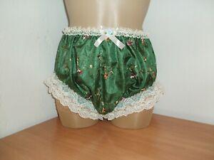 Sissy Lightweight Silk Full Briefs Panties Knickers Emerald