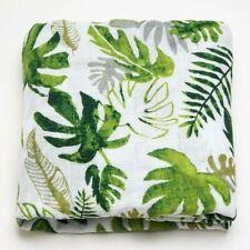 Large 120cm Super Soft Bamboo Palm Leaf Leaves Baby Muslin Swaddle Cloth Blanket