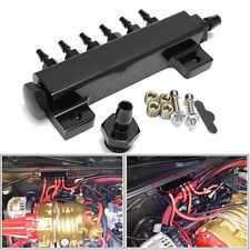 Unviersal 1 Set 6-Port 1/8 NPT Vacuum Intake Manifold Kits Turbo Block Black