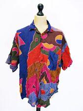 Unbranded Men's Striped Short Sleeve Regular Collar Casual Shirts & Tops