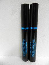 Max Factor 2000 Calorie Waterproof Volume Rich Black Mascara Lot Of 2 New