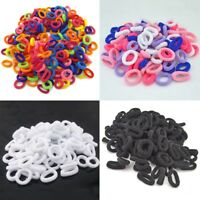 100Pcs Girls Baby Kids Hair Band Ties Rope Ring Elastic Hairband Ponytail Holder