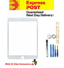 For Apple iPad Mini White Digitizer Front Touch Replacement Screen IC Chip