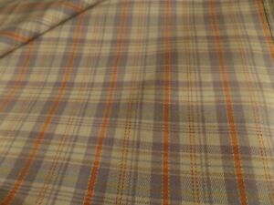 """Sold By The Yrd 45"""" Wide Polyester Coral & Lavender Plaid Material/Fabric #4874"""