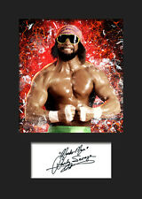 RANDY SAVAGE #1 (WWE) Signed Photo A5 Mounted Print - FREE DELIVERY