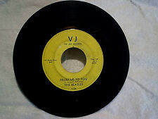 1964 THE BEATLES-From Me To You,SIDE 2 ON BOTH SIDES,v j label,Rare 45 rpm,gil.