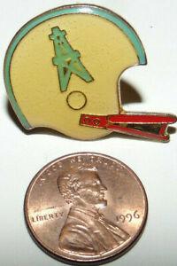 Vintage 1980s Houston Oilers Texas NFL Football Jacket Pin Single Stripe Helmet