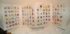Salesman's Sample Card 122 Hand Painted 3D Novelty Buttons JAS Styles,SEE PHOTOS