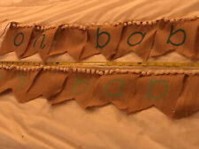 Oh Baby, Oh Baby Burlap Banners(2) -Baby Shower Decorations - 39� Long