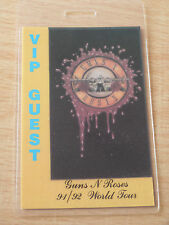 GUNS N ROSES Laminated VIP GUEST Backstage Pass - 91/92 World Tour