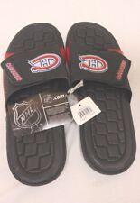 NHL Hockey Montreal Canadiens Slide Sandal Flip Flop Beach Shoe Black Red New