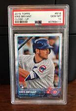 2015 Topps Kris Bryant Chicago Cubs Rookie Card #616 PSA 10 Gem Mint