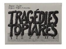 Tragedies Topiares ~ SIGNED by EDWARD GOREY ~ 1989 Postcards First Trade Edition