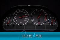 Tachoscheiben für BMW Tacho E39 Benzin od Diesel M5 Carbon 3067 Tachoscheibe X5