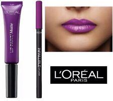 L'Oreal Infallible Matte Lip Paint LIPSTICK 207 WUTHERING PURPLE + LIP LINER 207