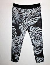 SASS Brand Women's Black Silver Floral Slim Leg Crop Pants Size 10 #SJ20