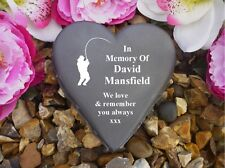 Heart Memorial - Personalised - Weatherproof - Fisherman Design