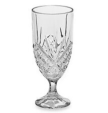 GODINGER SHANNON HEAVY CUT CRYSTAL 14oz FOOTED GLASSES SET (4)
