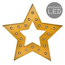 Modern LED Battery Operated / MAINS Powered Gold Star Silhouette Shaped Decorati