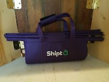 Shipt Reusable Purple 3 Bag Foldable Trolley Tote Grocery Carrier