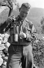 WW2 Photo WWII  Coffee Time 10th Mountain Division Soldier Italy 1944  / 1404