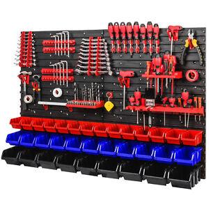 Werkzeugwand 1152 x 780 mm -  Lagersystem SET Werkzeughaltern und 34 Stück Boxen