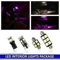 PURPLE LED Interior MAP DOME Lights Package for 1997-2001 Honda Prelude 5 Bulbs