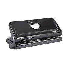 Rapesco Adjustable 6-Hole Organiser Diary Punch Black