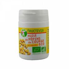 Huile de pépins de courge Bio - 60 capsules de 500 mg