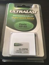 Ultralast Rechargeable Digital Camera Battery Casio NP-20 NEW