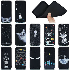 For Huawei Honor 7X 8C 8X Max Note 10 Soft Silicone Painted TPU Back Case Cover