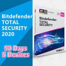 BitDefender Total Security 2020 GLOBAL License Key 5 Devices 3 Months (90 Days)