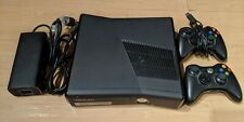 Microsoft Xbox 360 S 4GB Black Console with 2 controllers andbundle of games