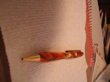 Fancy Slimline Pen , Acrylic, Gold inlays of black , Beautiful pen
