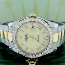 Rolex Datejust II 2-Tone Gold & Steel 41MM 116333 w/Diamond Roman Dial & Bezel