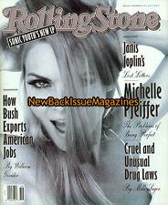 Rolling Stone 9/92,Michelle Pfeiffer,Mark Wahlberg,Brendan Fraser,September 1992